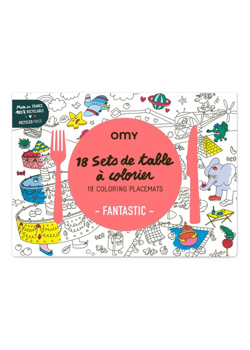 OMY 18 Coloring Placemats
