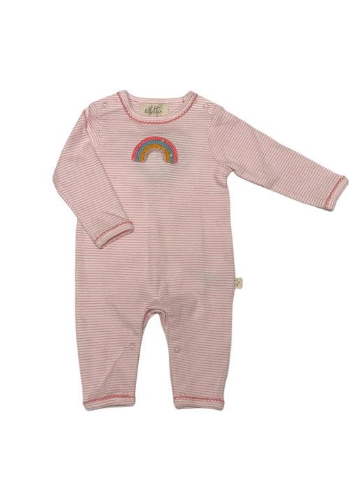 Albetta Crochet Rainbow Stripe Babygro