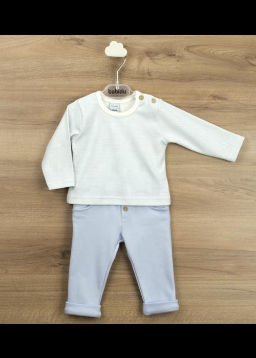 Babidu Sweet Blue Stripe Pant and Top Set