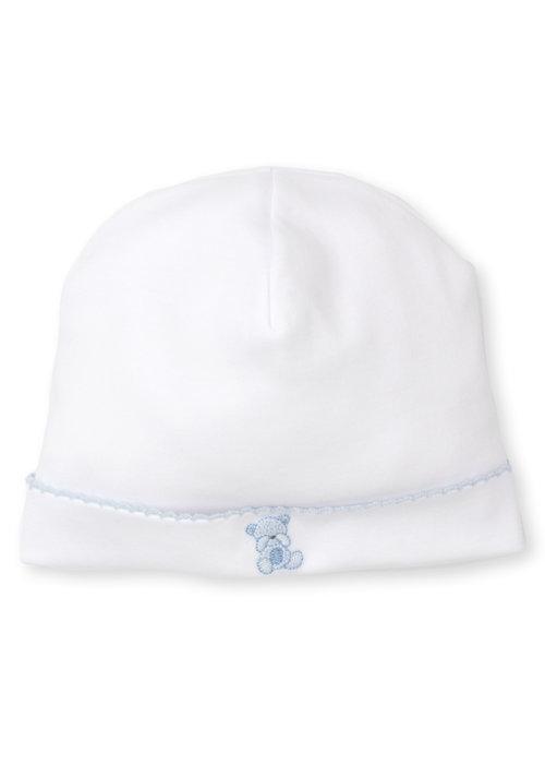 Kissy Kissy KK Bear Hugs Hat w/hand emb lt blue