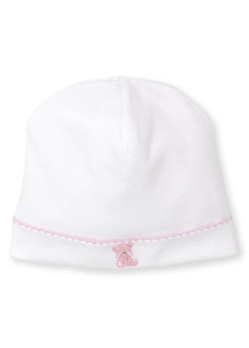 Kissy Kissy KK Bear Hugs Hat w/hand emb pink