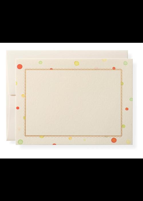 Karen Adams Set of 10 Cards & Envelopes Holiday Dots