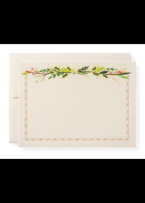 Karen Adams Set of 10 Cards & Envelopes Winter Holiday