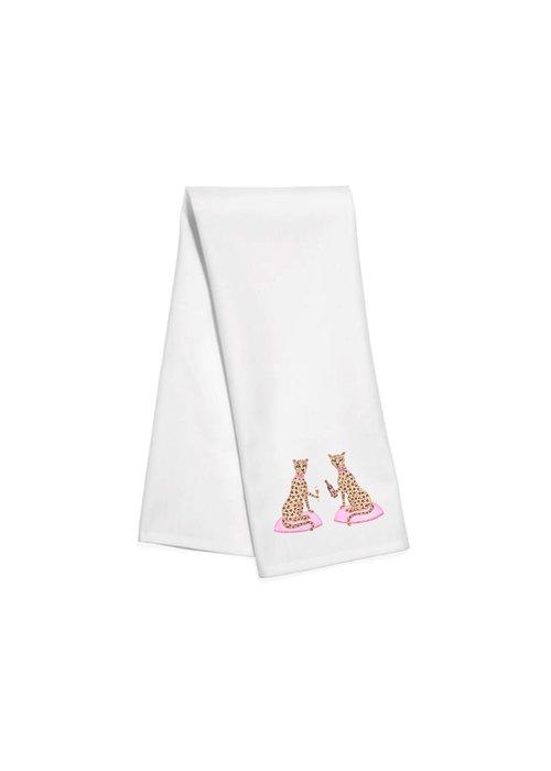 Champagne Leopard Tea Towel