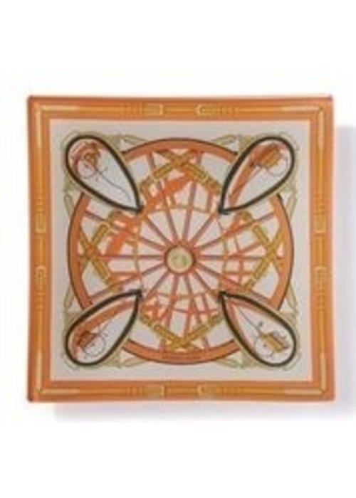 Square Trinket Tray- Hermes Scarf
