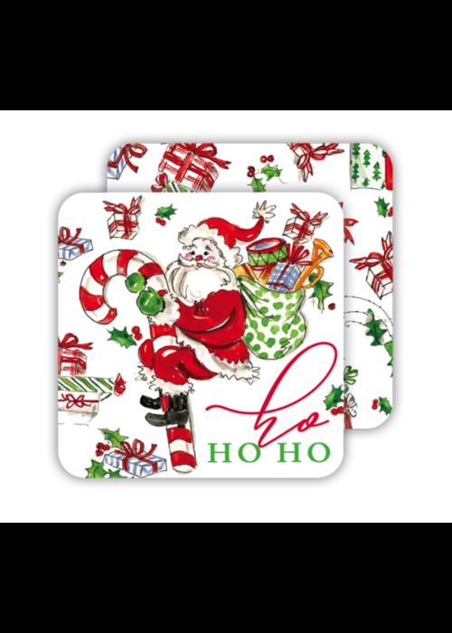 Ho Ho Ho Santa Paper Coaster Set
