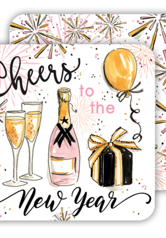 Cheers to New Year Paper Coaster Set