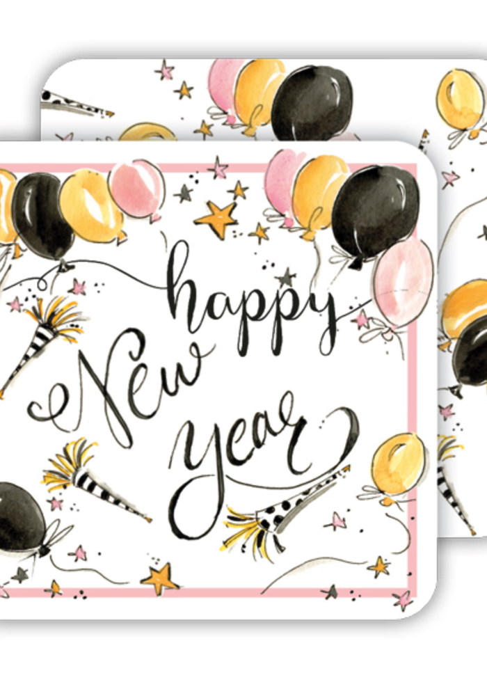 Happy New Year Paper Coaster Set