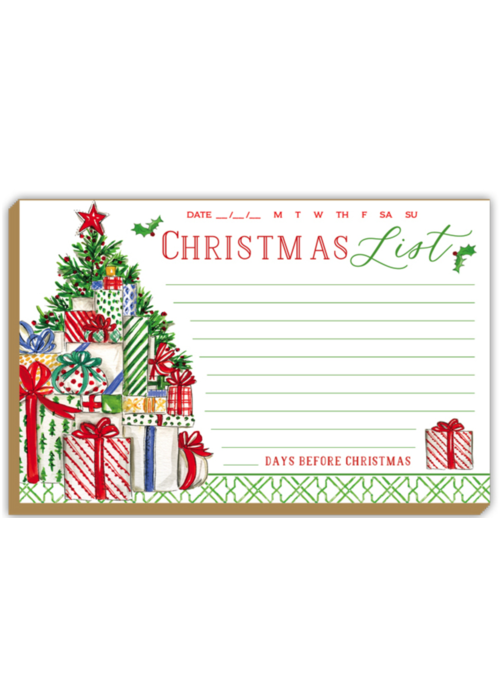 Luxe Christmas List Pad