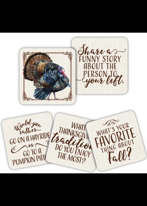 Turkey Conversation Starter Coaster Set