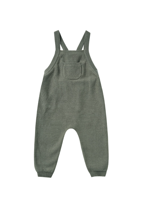 Quincy Mae QM Knit Overalls-Basil