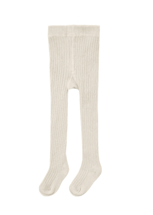 Quincy Mae QM Solid Ribbed Tights- Ivory