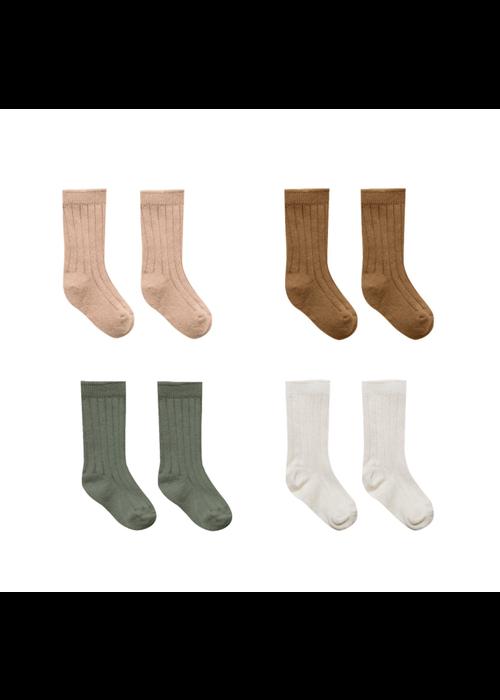 Quincy Mae QM Sock Set- Ivory, Basil, Petal, Walnut