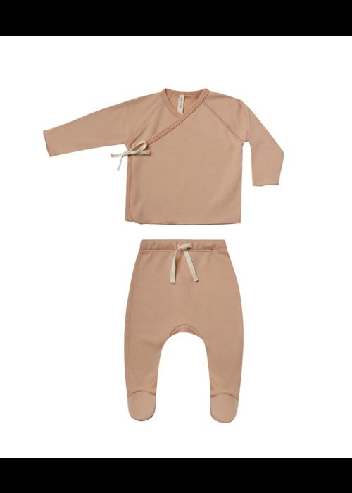 Quincy Mae QM Wrap Top and Pant Set- Petal