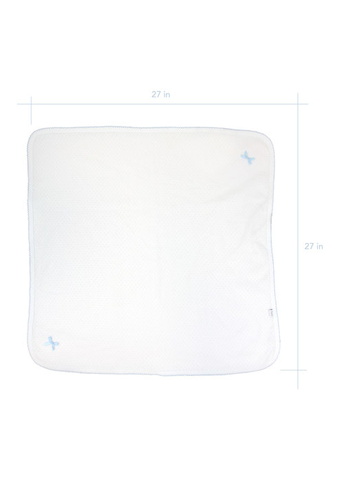 Paty Paty White/Blue Receiving Blanket