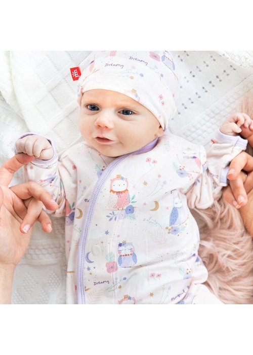 Magnetic Baby MB Owl Love You Forever Gown and Hat Set NB
