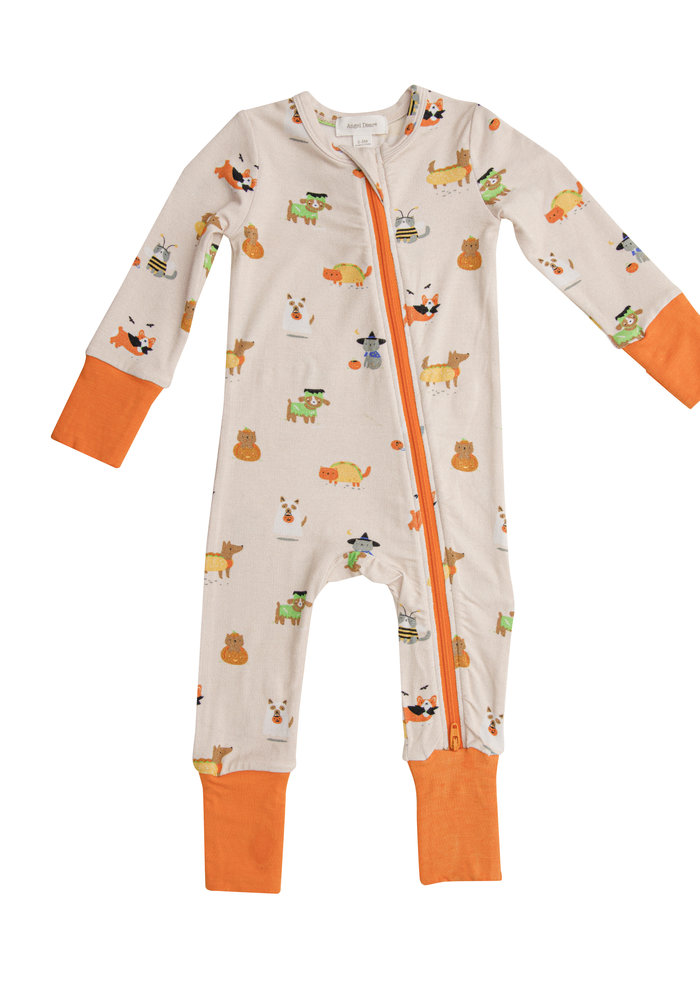 AD Costumed Dogs and Cats 2 Way Zipper Romper