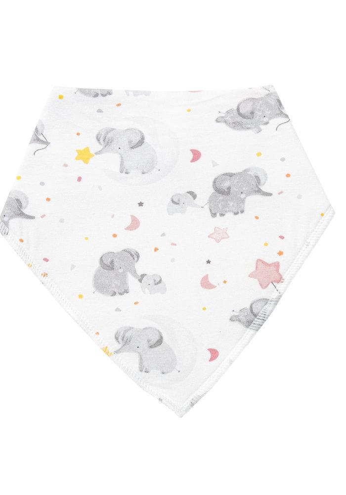 AD Elephants Bandana Bib Pink O/S