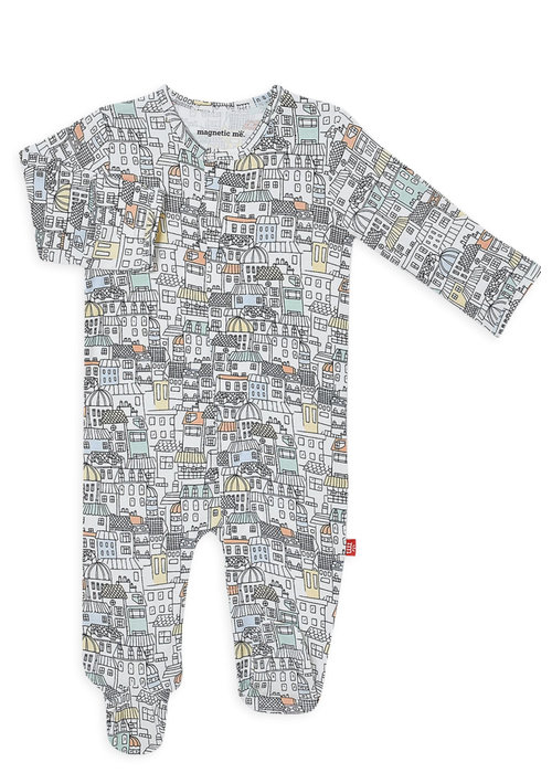 Magnetic Baby We Built this City Modal Magnetic Footie