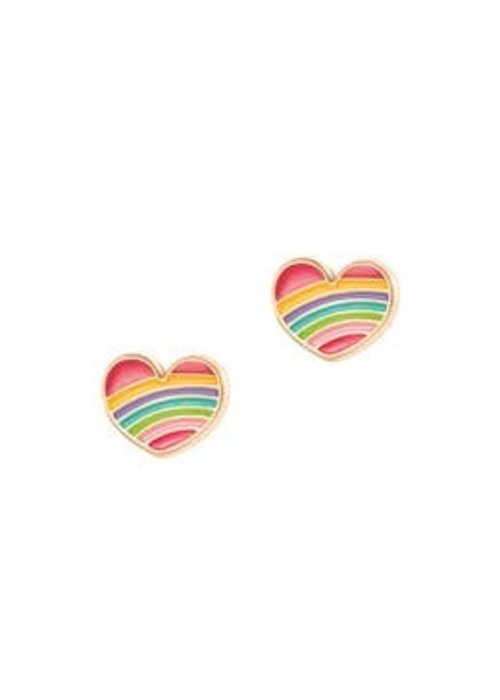 Girl Nation GN Rainbow Heart Cutie Studs