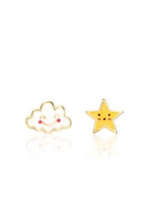 """Girl Nation GN """"The Perfect Pair"""" Head in the Clouds Cutie Studs"""