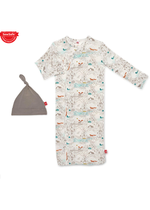 Magnetic Baby MB Big Sky Gown and Hat Set NB