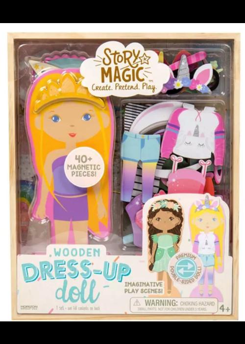 Horizon Group Wooden Dress Up Dolls Story Magic