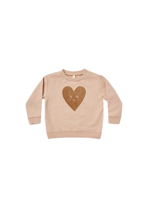 Quincy Mae QM Fleece Heart Sweatshirt Set