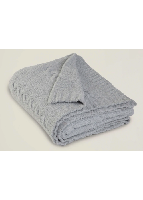 Barefoot Dreams BD CC Heathered Cable Blanket Ocean