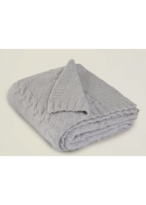 Barefoot Dreams BD CC Heathered Cable Blanket -Oyster