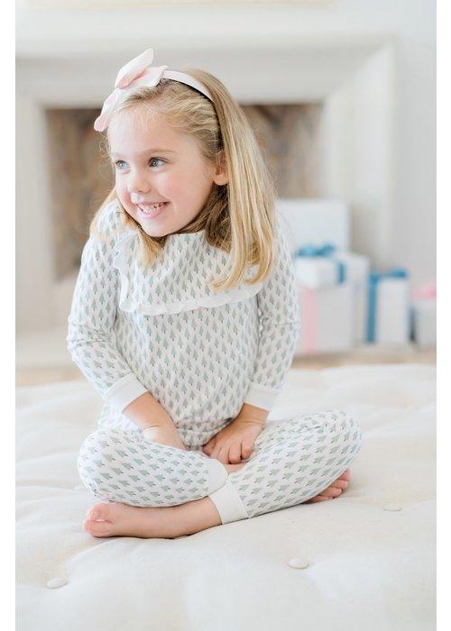 Lila and Hayes LH Taylor Pajama Set- Tiny Trees Pink
