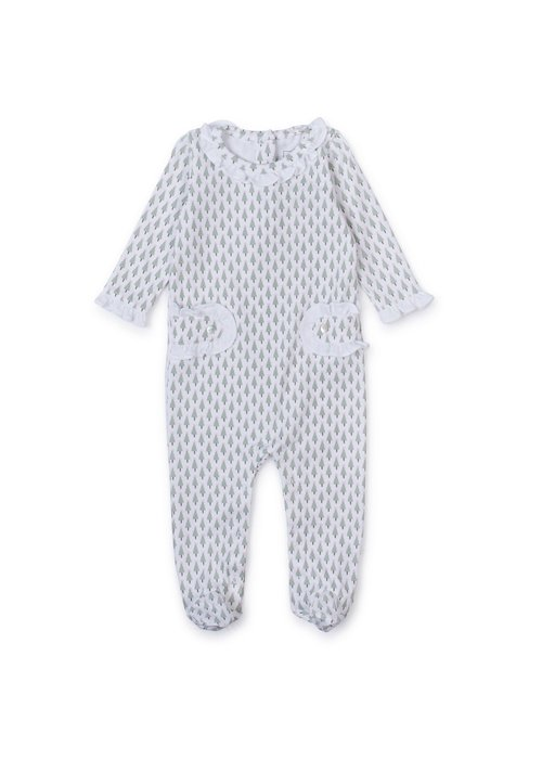 Lila and Hayes LH Lucy Romper- Tiny Trees Pink