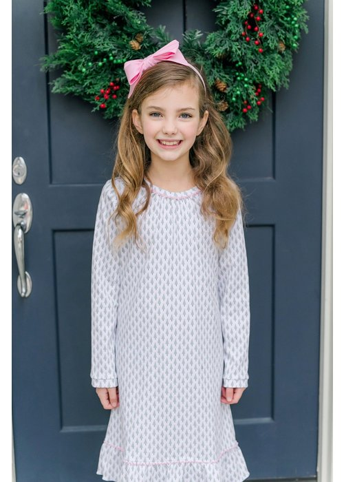 Lila and Hayes LH Carlin Dress- Tiny Trees Pink