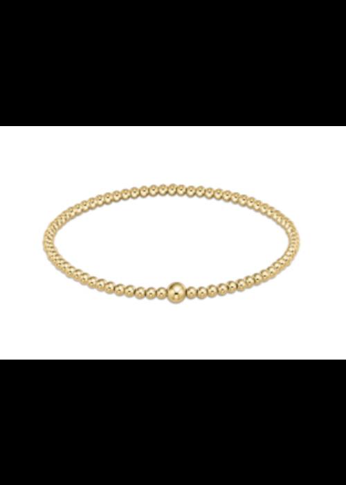 E Newton EN Classic Gold 4mm Bead Bangle