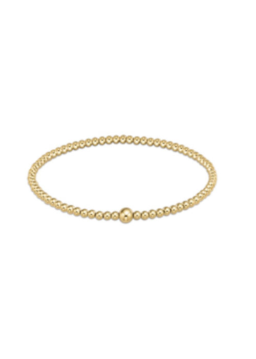 E Newton EN Classic Gold 3mm Bead Bangle