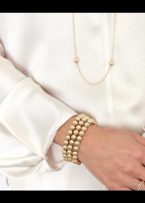 E Newton EN Classic Gold 8mm Bead Bracelet
