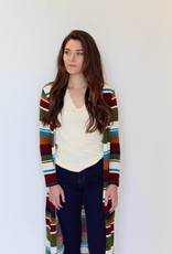 stripe up your life duster cardigan