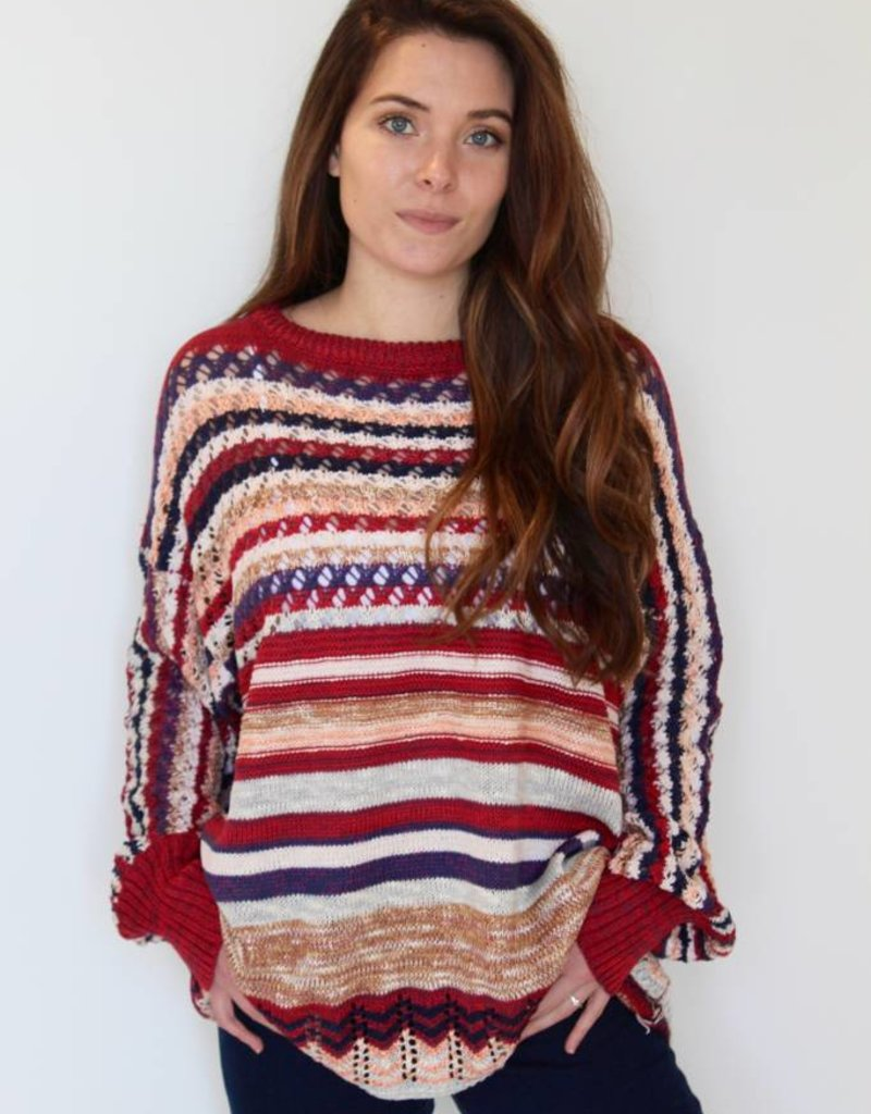 holiday cheer crochet knit sweater