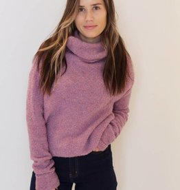 free people: stormy pullover sweater- lavender