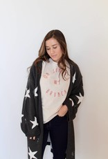 starburst knit cardigan- charcoal