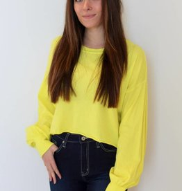 Free People: Denver Long Sleeve- Yellow