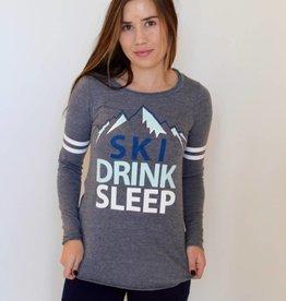 Chaser: Ski Drink Sleep Long Sleeve Tee