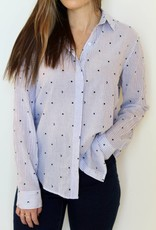 Rails: Moons and Stars Striped Button Up Blouse