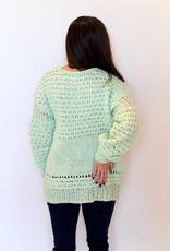 Free People: Crashing Waves Pullover-Mint