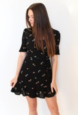 Rails: Black Floral Wrap Dress