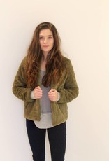 Baby Its Cold Outside Faux Fur Jacket- Olive