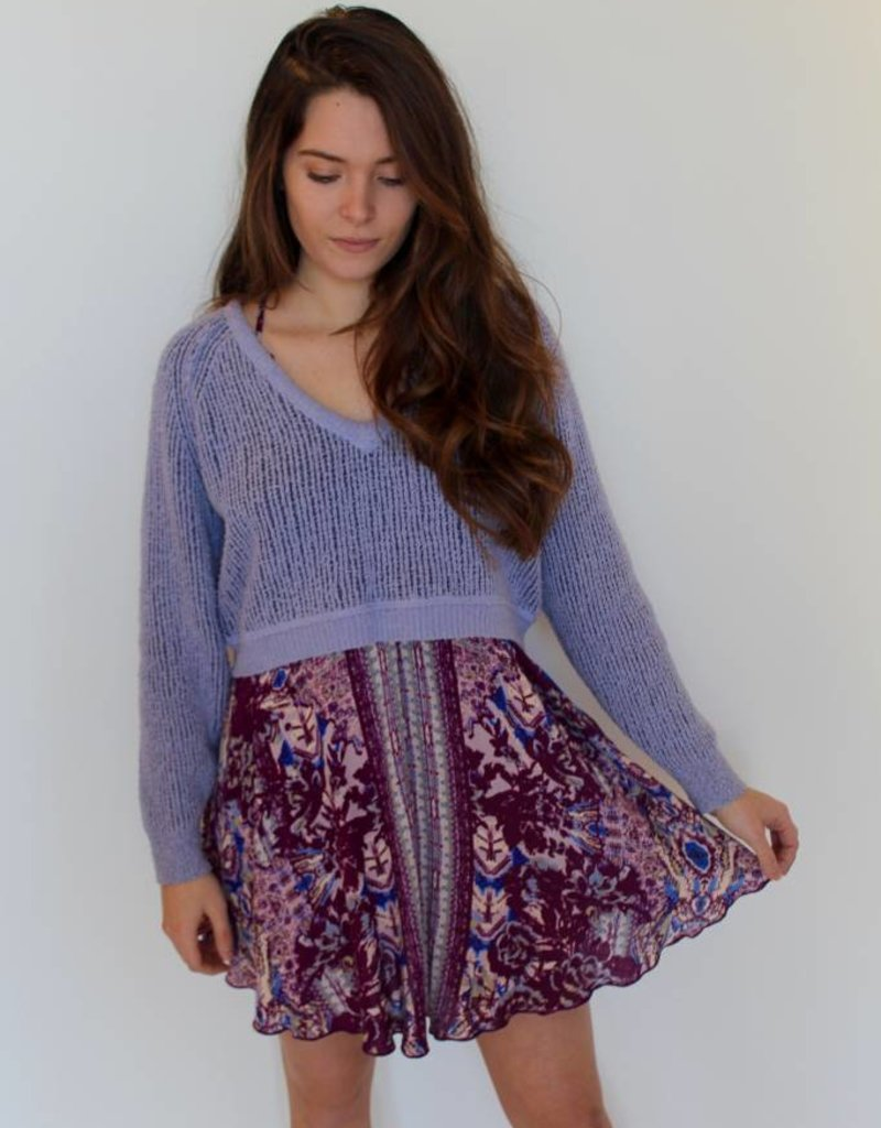 Free People: High Low V Sweater
