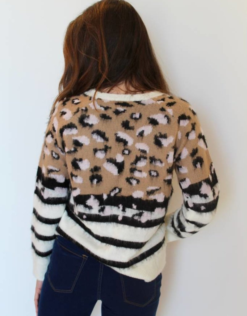 Hear Me Roar Fuzzy Sweater