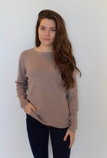 Bow Tie Sweater- Taupe