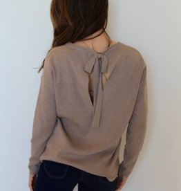 Bow Tie Sweater-Taupe
